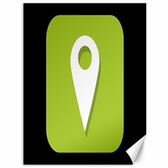 Location Icon Graphic Green White Black Canvas 36  x 48
