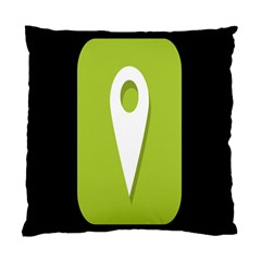 Location Icon Graphic Green White Black Standard Cushion Case (One Side)