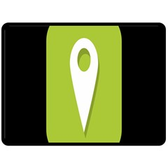 Location Icon Graphic Green White Black Fleece Blanket (Large)