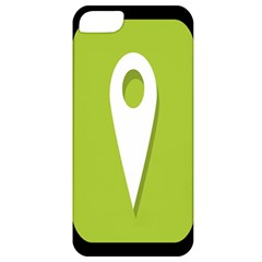 Location Icon Graphic Green White Black Apple iPhone 5 Classic Hardshell Case