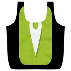 Location Icon Graphic Green White Black Full Print Recycle Bags (L)