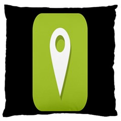 Location Icon Graphic Green White Black Large Flano Cushion Case (One Side)