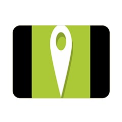 Location Icon Graphic Green White Black Double Sided Flano Blanket (Mini)