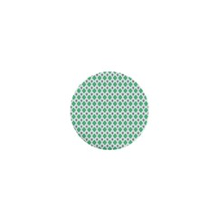 Crown King Triangle Plaid Wave Green White 1  Mini Magnets