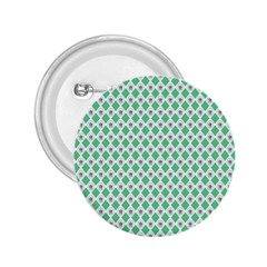 Crown King Triangle Plaid Wave Green White 2 25  Buttons