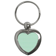 Crown King Triangle Plaid Wave Green White Key Chains (heart)