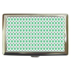 Crown King Triangle Plaid Wave Green White Cigarette Money Cases