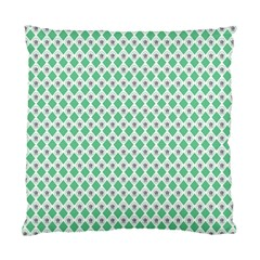 Crown King Triangle Plaid Wave Green White Standard Cushion Case (Two Sides)