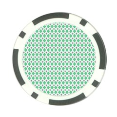 Crown King Triangle Plaid Wave Green White Poker Chip Card Guard (10 pack)