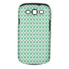 Crown King Triangle Plaid Wave Green White Samsung Galaxy S Iii Classic Hardshell Case (pc+silicone)