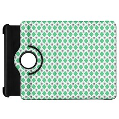 Crown King Triangle Plaid Wave Green White Kindle Fire HD 7
