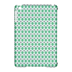 Crown King Triangle Plaid Wave Green White Apple iPad Mini Hardshell Case (Compatible with Smart Cover)