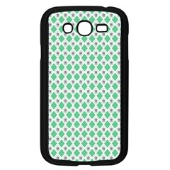 Crown King Triangle Plaid Wave Green White Samsung Galaxy Grand DUOS I9082 Case (Black)
