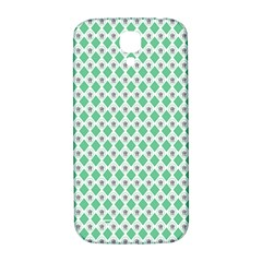 Crown King Triangle Plaid Wave Green White Samsung Galaxy S4 I9500/I9505  Hardshell Back Case
