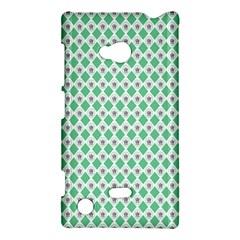 Crown King Triangle Plaid Wave Green White Nokia Lumia 720