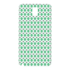 Crown King Triangle Plaid Wave Green White Samsung Galaxy Note 3 N9005 Hardshell Back Case
