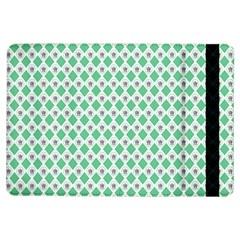 Crown King Triangle Plaid Wave Green White iPad Air Flip
