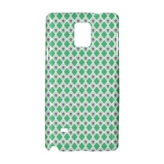 Crown King Triangle Plaid Wave Green White Samsung Galaxy Note 4 Hardshell Case