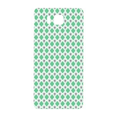 Crown King Triangle Plaid Wave Green White Samsung Galaxy Alpha Hardshell Back Case
