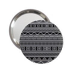 Myria Wrapping Paper Black 2 25  Handbag Mirrors