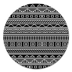 Myria Wrapping Paper Black Magnet 5  (Round)