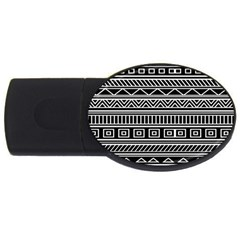 Myria Wrapping Paper Black USB Flash Drive Oval (2 GB)