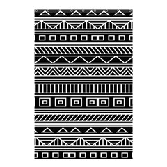 Myria Wrapping Paper Black Shower Curtain 48  x 72  (Small)