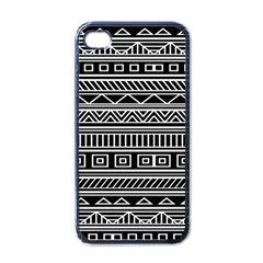 Myria Wrapping Paper Black Apple iPhone 4 Case (Black)