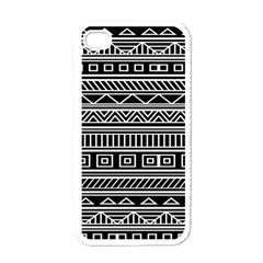 Myria Wrapping Paper Black Apple iPhone 4 Case (White)