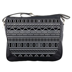 Myria Wrapping Paper Black Messenger Bags