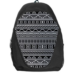 Myria Wrapping Paper Black Backpack Bag