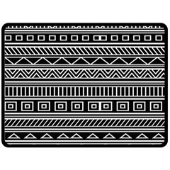 Myria Wrapping Paper Black Double Sided Fleece Blanket (Large)