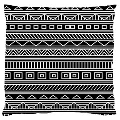 Myria Wrapping Paper Black Standard Flano Cushion Case (Two Sides)
