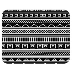 Myria Wrapping Paper Black Double Sided Flano Blanket (Medium)