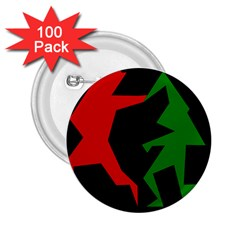 Ninja Graphics Red Green Black 2 25  Buttons (100 Pack)