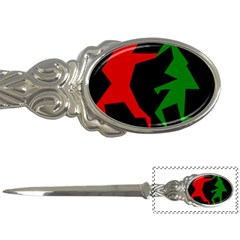 Ninja Graphics Red Green Black Letter Openers