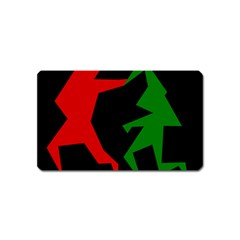 Ninja Graphics Red Green Black Magnet (name Card)