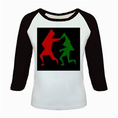 Ninja Graphics Red Green Black Kids Baseball Jerseys