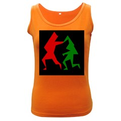 Ninja Graphics Red Green Black Women s Dark Tank Top