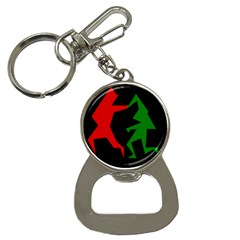 Ninja Graphics Red Green Black Button Necklaces