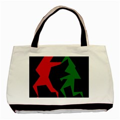 Ninja Graphics Red Green Black Basic Tote Bag