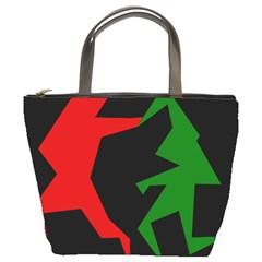 Ninja Graphics Red Green Black Bucket Bags