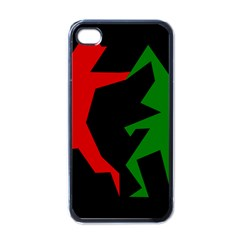 Ninja Graphics Red Green Black Apple iPhone 4 Case (Black)