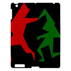Ninja Graphics Red Green Black Apple iPad 3/4 Hardshell Case