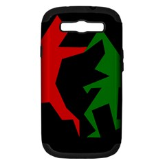 Ninja Graphics Red Green Black Samsung Galaxy S III Hardshell Case (PC+Silicone)