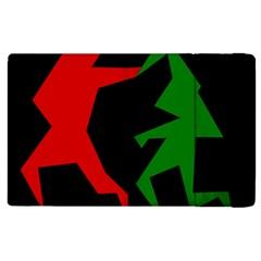Ninja Graphics Red Green Black Apple iPad 3/4 Flip Case