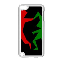 Ninja Graphics Red Green Black Apple iPod Touch 5 Case (White)