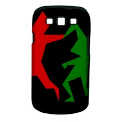 Ninja Graphics Red Green Black Samsung Galaxy S III Classic Hardshell Case (PC+Silicone)