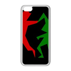 Ninja Graphics Red Green Black Apple iPhone 5C Seamless Case (White)
