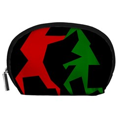 Ninja Graphics Red Green Black Accessory Pouches (Large)